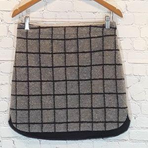 Madewell shirttail wool-blend skirt size 4